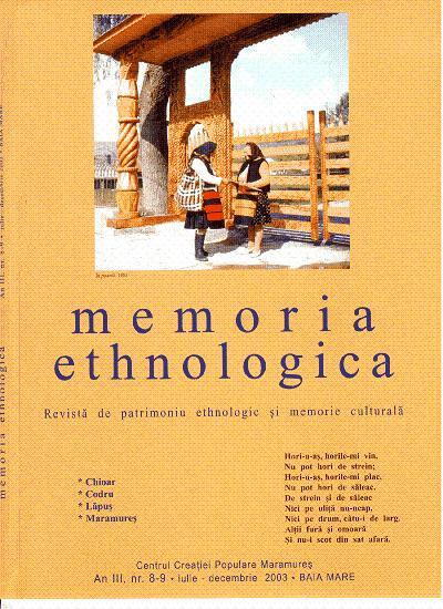 Memoria Ethnologica vol. 8-9